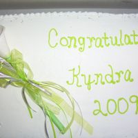 Gumpaste Calla Lilly This is the first cake I have done using gumpaste flowers. The calla lilly was the class flower for our high school graduation.