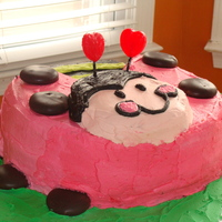My Grandddaughter Kaylee's 2Nd Birthday Lady bug cake for my granddaughters 2nd birthday