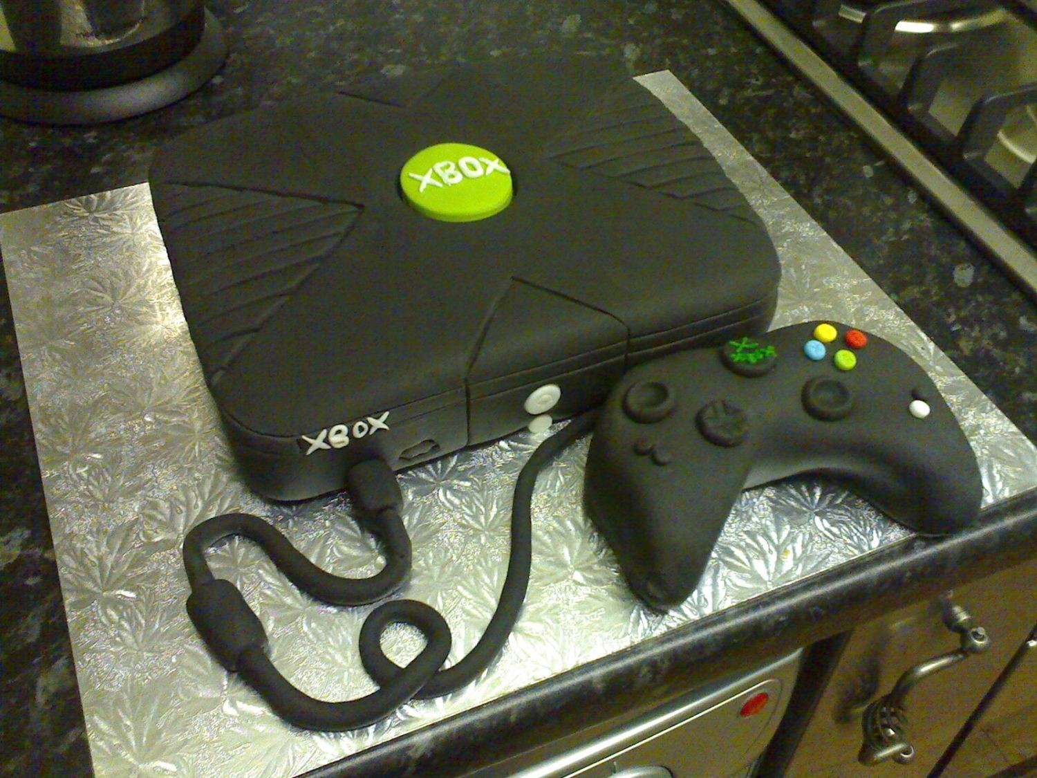 Xbox Cake # 2 This was a second attempt at the xbox!!