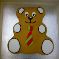 Teddy Bear Cake This cake was made for a children's library's 5th birthday.
