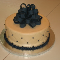 Diamond Cake With Bow