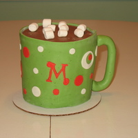 Holiday Color Hot Cocoa Mug Another hot cocoa mug made in Christmas colors