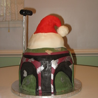 Boba Fett Wears A Christmas Hat This was a birthday request by a 7 year old little girl whose birthday is on Christmas Eve. She obviously loves Star Wars and has a great...
