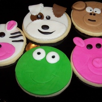Animal Cookies Made these for my nephew and nieces today thanks to the inspiration from cc'er Noekie. NFSC with MMF. TFL!