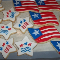 4Th Of July Cookies Made these for my sisters MIL today. NFSC with MMF and RI. TFL!