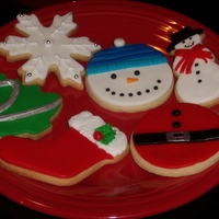 Christmas Cookies A few of the cookies made to send to my little neices and nephew this year. NF sugar cookies, mmf with royal accents. Inspired from all the...