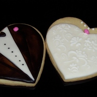 Bride And Groom Cookies Made for my sister's Anniversay as a surprise. NFSC with MMF and royal accents. TFL!