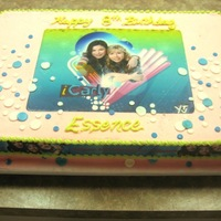 Icarly Birthday Cake White cake with butter cream icing. Edible images and fondant accents TFL