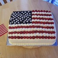 American Flag I used blueberries and raspberries for the stars and stripes