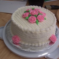 Cake With Roses On Top