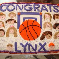 Congratulations Girls Basketball Team I made this for my daughter's team at the end of their season. They seemed to get a kick out of trying to tell whom each one was.