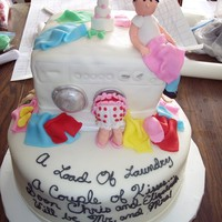 Laundry And Kisses i saw the dryer portion of this cake and the saying on here. I made this all in mmf . This was for a male teacher at a JR high school who...
