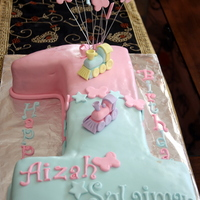 "One Shape Cake For Twins one shaped cake, made by cutting 13x9"" cake in half (length wise) leaving two inches at the top, and then used it to make the base of..."