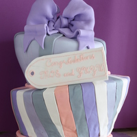 Topsy Turvy Engagement Cake