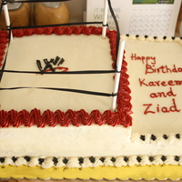 Wwe Cake all buttercream with marble cake