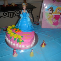 Cinderella Cake   Cinderella dress is made out of cake and covered with MMF...