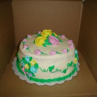 Flowers.. Made this cake as a gift for a friend. Pineapple and coconut flavor...BC and RI flowers!