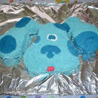 Blue's Clues This was my first cake I ever did. I did this for my son's 2nd birthday....he is a BIG Blue's Clue's fan. He was estatic...