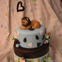 King Of The Jungle Baby Shower Cake   I copied the baby shower invitation. All decorations were made from fondant.Thanx for looking