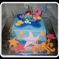 Little Mermaid Cake I cannot take credit for this design. Had to copy it off a picture the customer gave to me. My comliments to the designer. Half chocolate,...