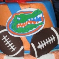 Florida Gators Made with royal icing