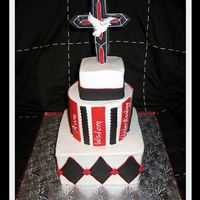 Confirmation Cake This cake was made for a boy's confirmation with the words of the 7 gifts the Holy Spirit gives you when you are confirmed. Wisdom,...