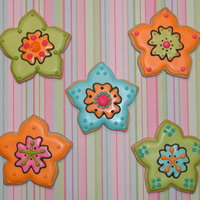 Bright Flowers! NFSC w/ Antonia74's RI. This is my favorite flower to make. I love the shape of the cookie cutter. Thanks for looking!