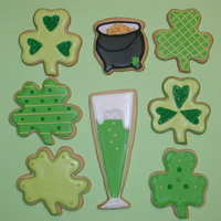 St. Patty's Day! NFSC w/ Antonia74's RI. Here are some St. Patty's Day cookies I made for a friend. Thanks for looking!