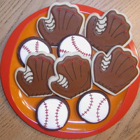 Baseball! NFSC and dark chocolate rolled sugar cookies w/ Antonia74's RI. These are some cookies I made for a kickoff potluck for my son's...