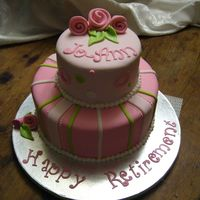 Jo-Ann's Girly Retirement Cake