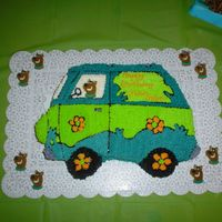 Scooby Doo I did this for my son's 4th birthday. He had a scooby doo birthday party but had to have a mystery machine cake. It is done with all...