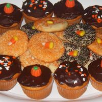 Halloween Cupcakes And Cookies Sometimes quick and easy fits the bill. These orange flavoured cupcakes and simple sugar cookies whipped up in no time and looked '...