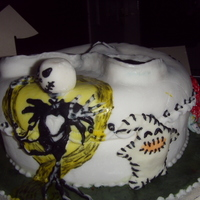 Nightmare Before Christmas Cake bit of a scarey one,,,lol different but fun