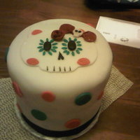 Sugar Skull Hellokitty  I made this cake for my very good friend . She loves Hello Kitty and Sugar skulls. It is a coffee cake with cream cheese and sourcream...