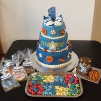 Little All-Star This is a pic to go along with my all-star cake I posted earlier. It shows the sugar cookies with rolled buttercream, white chocolate mints...