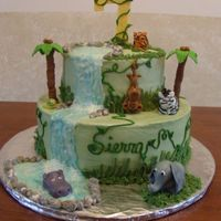 Sierra The Jungle Girl   Buttercream w/fondant decorations