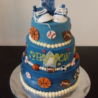 All-Star 1St Birthday   Buttercream w/ fondant decorations