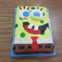 Sponge Bob Quick cake made for girl scouts. Fondant decorations