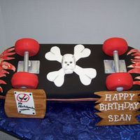 Skateboard Cake Made this for my son's birthday party this weekend. He used to be quite a skateboarder when he was younger. Made this with help from a...