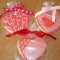Valentine Cookies   Sugar cookies with Toba's glace'