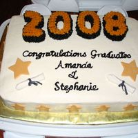 Graduation Cake For my two nieces' high school graduation. Thanks for CC for the constant inspiration!