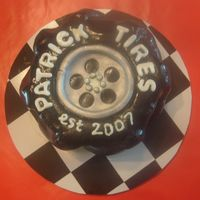 Monster Truck Tire Smash Cake   Chocolate Fudge cake w/ chocolate bc covered in fondant. TYFL!