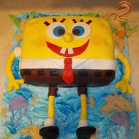 Fondant/sponge Bob fondant cake i made special for my son 2 birthday and he loved it,hope you like it!