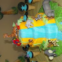 Jungle/fondant a made it for my son birthday party!