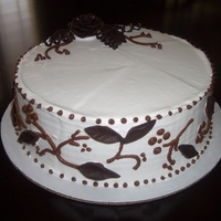 Modeling Chocolate Rose Ice Cream Cake