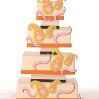 Emilio Pucci Inspired Cake photo by Dave Miyamoto with Pacific Weddings Magazine