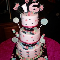 Candyland Sweet 16 This cake was made for Dog the Bounty Hunter's Daughter for her Birthday. This cake was also on his holiday special. Everything ont...