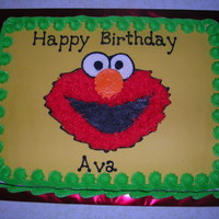 Elmo Birthday All buttercream