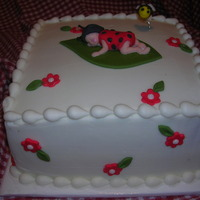 Baby Ladybug Buttercream with fondant accents.