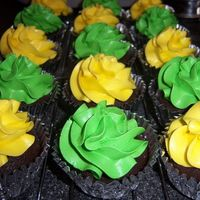 Green & Yellow Cupcakes